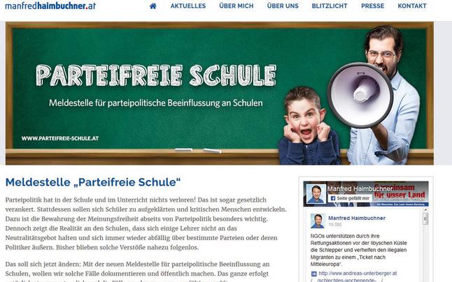 """""""Spitzel""""-Website der FPÖ sorgt für Wirbel"""
