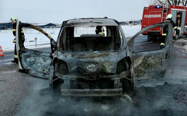Pkw ausgebrannt Burgenland