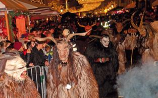 In Klagenfurt sind am Samstag die Krampusse los
