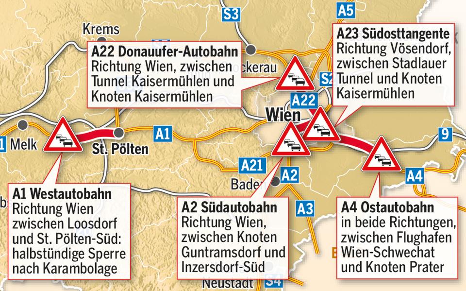 Stauchaos Wien