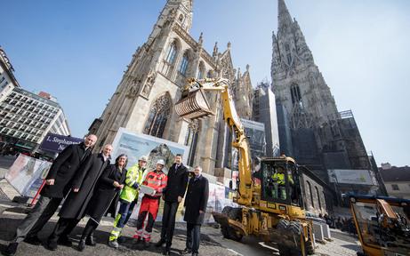 Stephansplatz: 36.400 neue Granitplatten