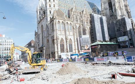 Stephansplatz wird jetzt zur Chaos-Baustelle