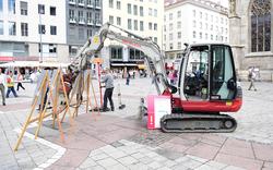 """Stephansplatz: Warten auf """"Go"""" für Umbau"""