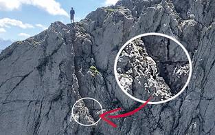 Hund mit Heli von Berg gerettet
