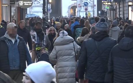 Trotz Lockdown: Massen fluten Wiener Innenstadt