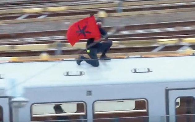 U-Bahn-Riding Schwarzfahrer