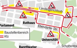 U2/U5-Bauprojekt: Ab heute Stau-Alarm in Wien