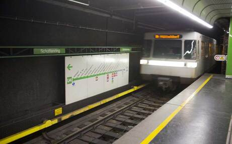 U4-Sperre zu Ostern: Zug fährt nur bis Schottenring