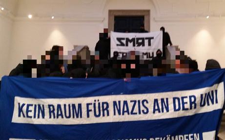 Antifa-Demo blockierte Hörsaal der Uni Wien