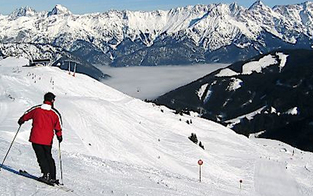 Skibetrieb auf der Postalm