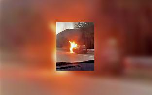 Held fuhr mit brennenden Auto aus Tunnel
