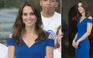 Herzogin Kate strahlt ohne William