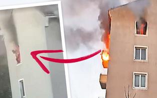 Feuer-Drama: Mutter sprang aus Fenster - Koma
