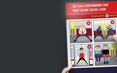 Wiener Linien: Männer sollen aufhören, breitbeinig zu sitzen