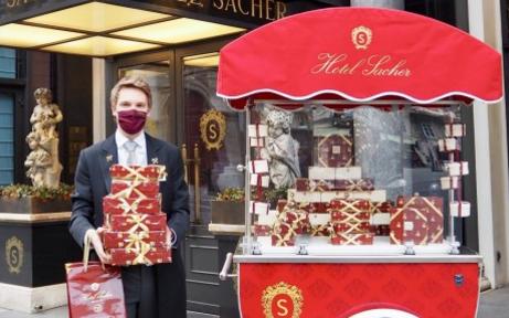 Sacher-Torte gibt's in Wien jetzt auch im Drive-In