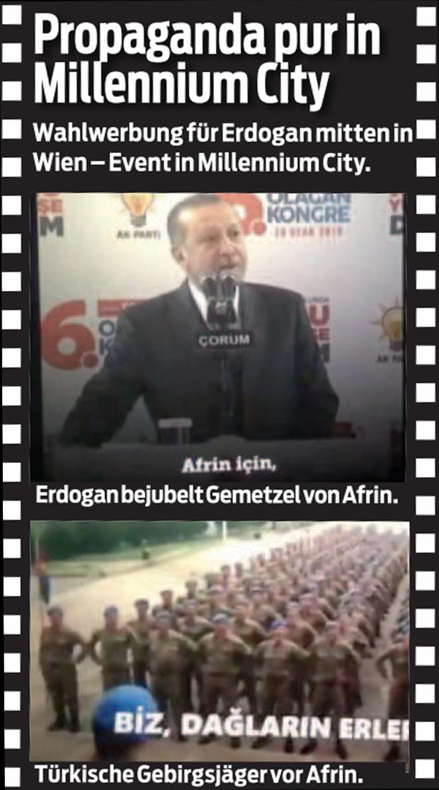 Erdogan Propaganda Wien Millenium City