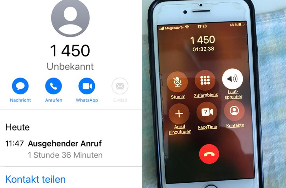 1450 Warteschleife Anrufe