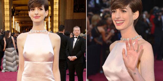 Anne Hathaway: Nippelalarm bei Oscars