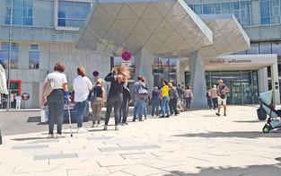 KH Nord: Ärger um Warteschlange für die Besucher