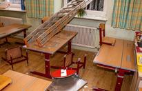 Einbrecher verwüsteten Volksschule