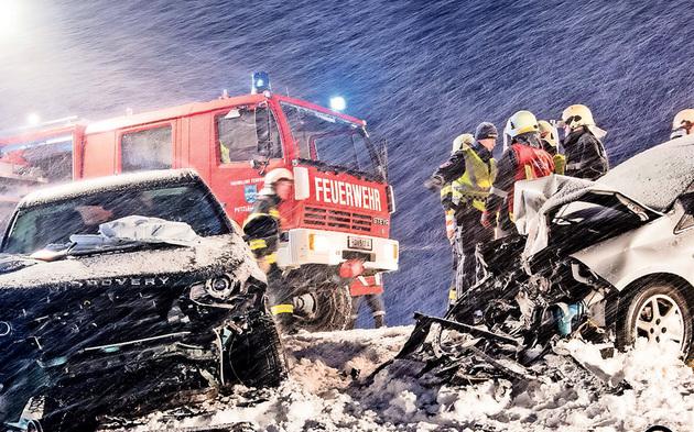Unfall Schnee OÖ