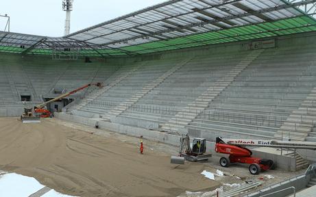 Rapid-Schriftzug ziert neues Allianz-Stadion