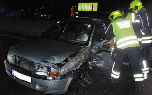 Alko-Geisterfahrer rammt Pkw auf der A1