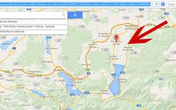 Auf Google Maps ist der Attersee leer