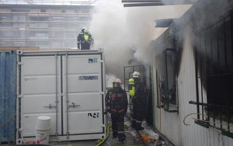 Brand auf Wiener Baustelle