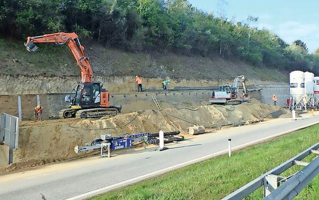 A1-Baustelle für 3. Spur geht ins Finale