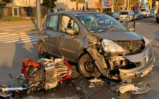 Motorradfahrer bei Crash in Wien schwer verletzt