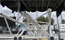 Donauinselfest 2014: Bilder der Aufbauarbeiten