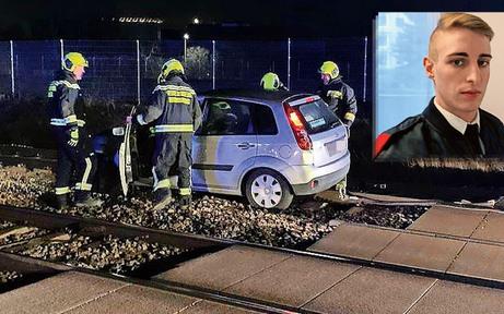 Feuerwehrmann verhindert Zugunglück