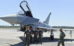 Eurofighter erstmals am Flughafen Schwechat