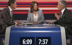 Hartes Duell Faymann gegen Bucher