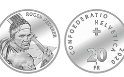 Gedenkmünze für lebende Tennis-Legende Roger Federer