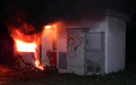 Baucontainer im Waldviertel angezündet