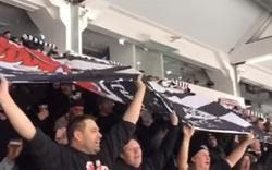 Hunderte Frankfurt-Fans feierten beim Eishockey