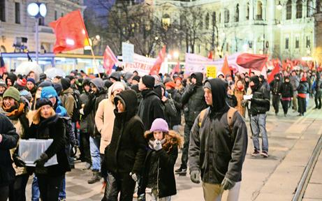 8 Demos in nur 3 Tagen legen Wien lahm