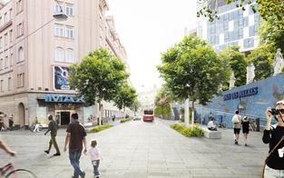 Grüner Plan: So soll neue Gumpendorfer Straße aussehen