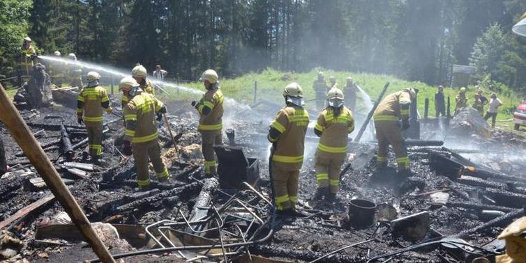 Almhütte in Abtenau brannte nieder