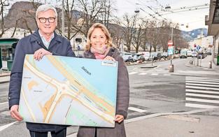 Salzburg: Stadt erhält neuen Kreisverkehr