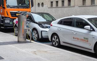 Wien bei Ladestellen für E-Autos im Plan