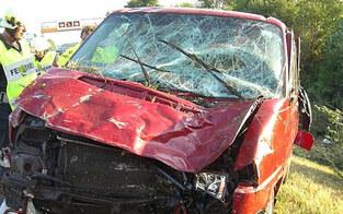 Kleinbus-Crash auf der A9: 7 Verletzte