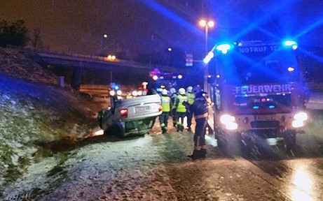 Schneefall sorgte für Verkehrsunfälle