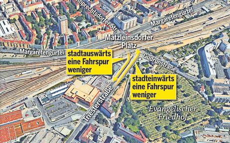 Matzleinsdorfer Platz: Sieben Jahre Stau