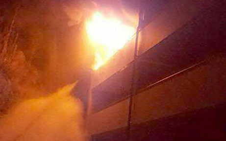 Senioren-Haus in Flammen