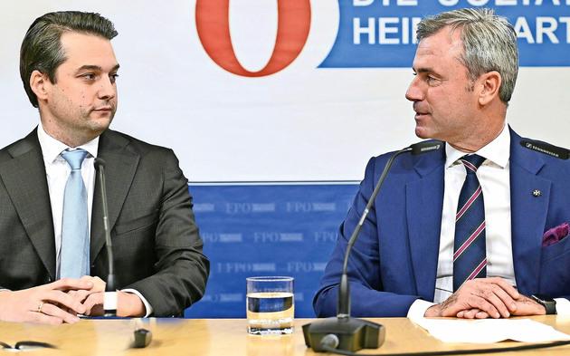 Nepp und Hofer nach FPOE Wahl-Desaster