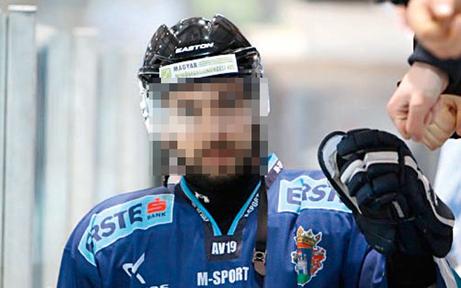 Eishockey-Spieler als Bankräuber
