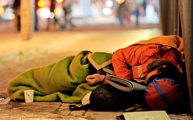 Obdachloser Winter